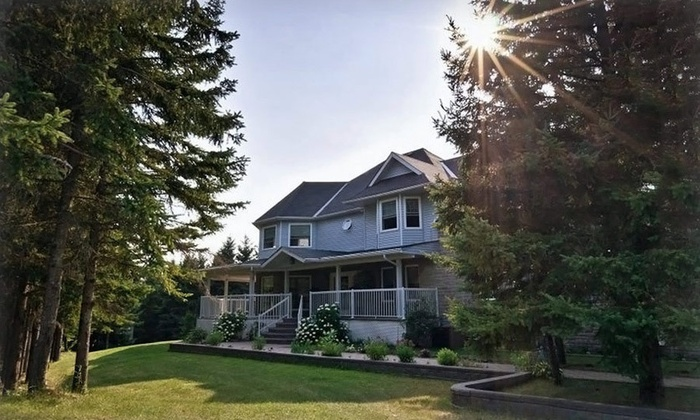 Hillview Haven Estate - Baltimore, Ontario: One- or Two-Night Stay with Dinner, Wine, and Optional Massage at Hillview Haven Estate in Northumberland County, ON