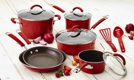 Rachael Ray Cucina Porcelain Aluminum 12-Piece Cookware Set