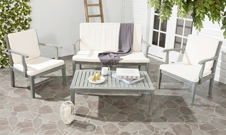 Malibu outdoor furniture set groupon goods for Garden furniture set deals