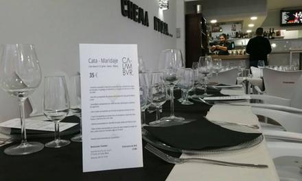 Menú para 2 o 4 con entrante, principal, postre y bebida o botella de vino desde 19,95 € en Restaurante Calambur