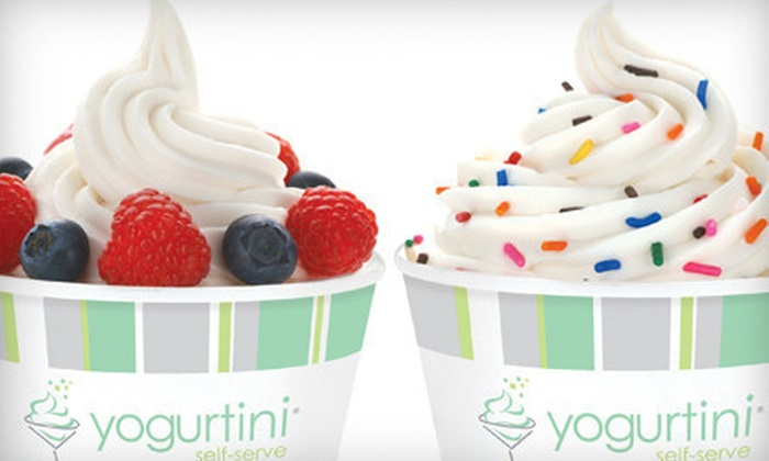 Yogurtini - Village of the Branch: Self-Serve Frozen Yogurt and Toppings at Yogurtini (Up to 52% Off). Two Options Available.