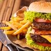 400-g-Burger mit Beilagen