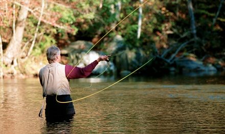 $49 for a Private Fly-Casting Lesson for Up to Four People from Smoky Mountain Gillies ($75 Value)