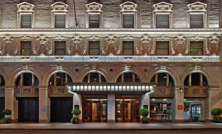 groupon daily deal - Stay at Paramount Hotel – A Times Square Hotel in New York City, with Dates into April