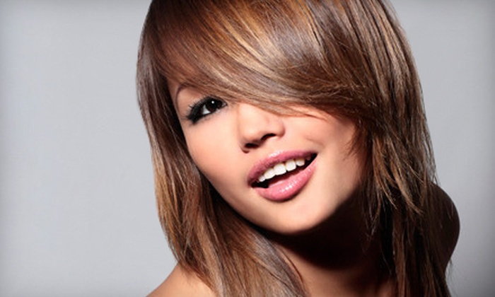 Vasken Demirjian Salon - White Plains: Gloss with Single-Process Color, Partial Highlights, or Full Highlights at Vasken Demirjian Salon (Up to 65% Off)