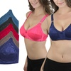 Women's Wireless Regular and Plus Size Full Cup Bras (6-Pack)