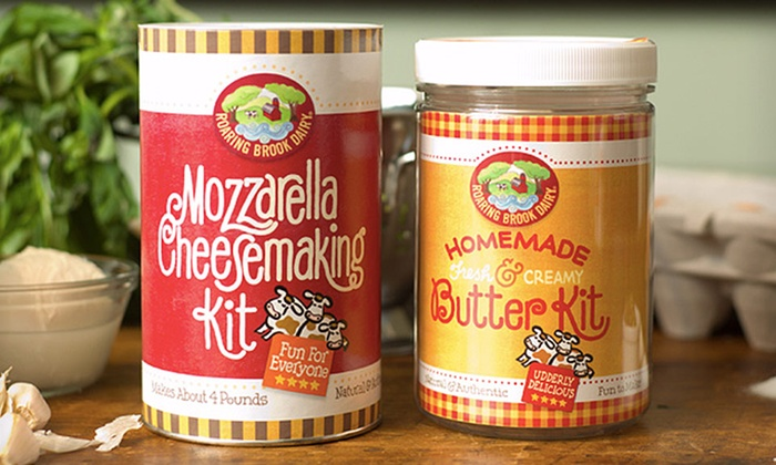 Roaring Brook Dairy Butter- or Cheese-Making Kit: Roaring Brook Dairy Butter- or Cheese-Making Kit from $15.99–$17.99.