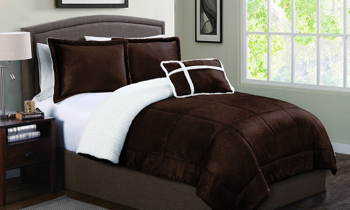 multiple walmart home mink set comforter bedding com micro vcny colors ip sizes and sherpa solid available