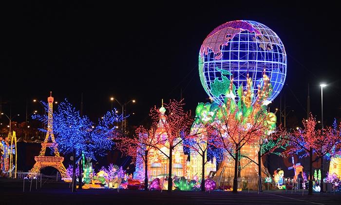 Global Winter Wonderland - Sacramento - Sacramento: Holiday Theme-Park Visit with Unlimited Rides for Two or Four at Global Winter Wonderland (49% Off)