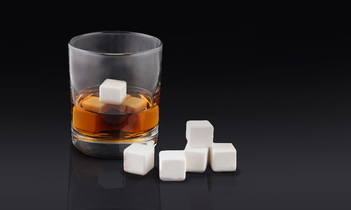 White Ice Whiskey- and Wine-Stones Set: White Ice Whiskey- and Wine-Stones Set. Free Returns.