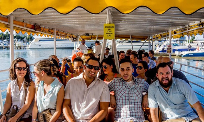 Boat Bar Crawl - Miami - Downtown Miami: Pub Crawl Cruise for Two or One from Boat Bar Crawl (Up to 62% Off)