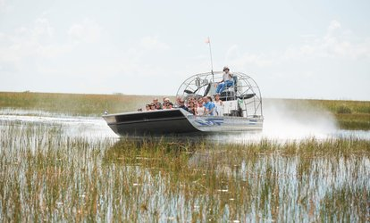 Airboat Tour and Wildlife-Exhibit Package for One, Two, or Four at Sawgrass Recreation Park (Up to 24% Off)