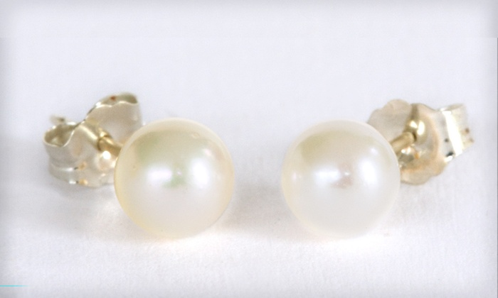 Akoya-Pearl Stud Earrings: Akoya-Pearl Stud Earrings (Up to 89% Off). 4 Styles Available. Free Shipping and Returns.