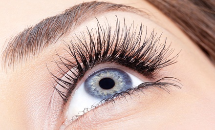 Eyebrow Tinting, Eyelash Extensions, or Both at Amy's Beauty Salon (Up to 53% Off)