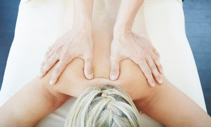 image for Choice of Chair Massage with Optional Brow and Upper Lip Threading at Area G (Up to 47% Off)