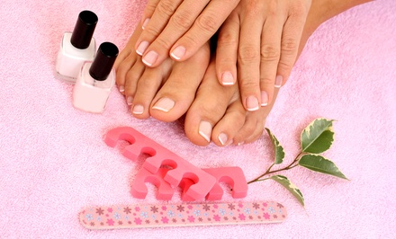 One or Two European Spa Mani-Pedis at DD Beauty Salon (Up to 57% Off)