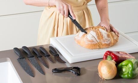 Set de 7 cuchillos profesionales con recubrimiento de piedra