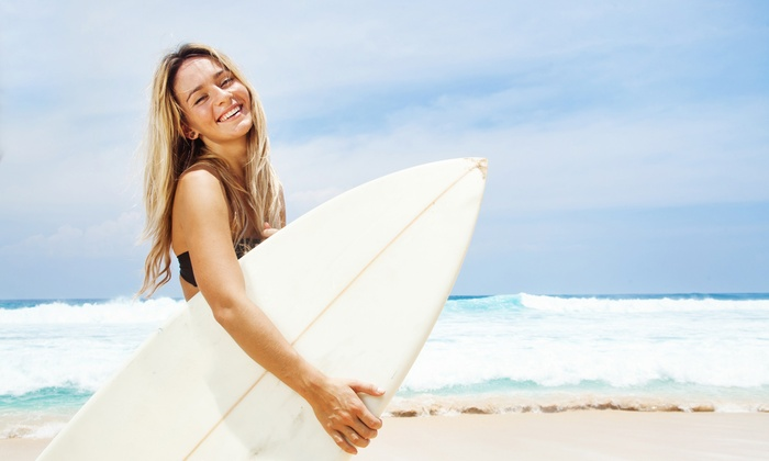 Jersey Devil Surf - Atlantic City: Boogie Board or Surfboard Rental for Two or Surf or Paddle Board Lesson at Jersey Devil Surf (Up to 61% Off)