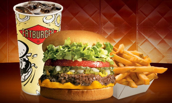 Fatburger - Central City: Burger Meal with Fries and Sodas for Two or Family Combo at Fatburger (Up to 53% Off)