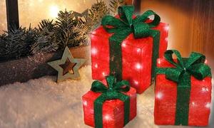 Pacchi di Natale luminosi