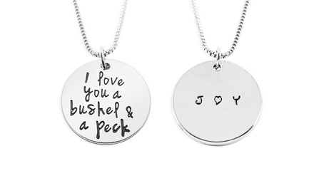 Bushel and Peck Necklaces in Rhodium Plated Alloy