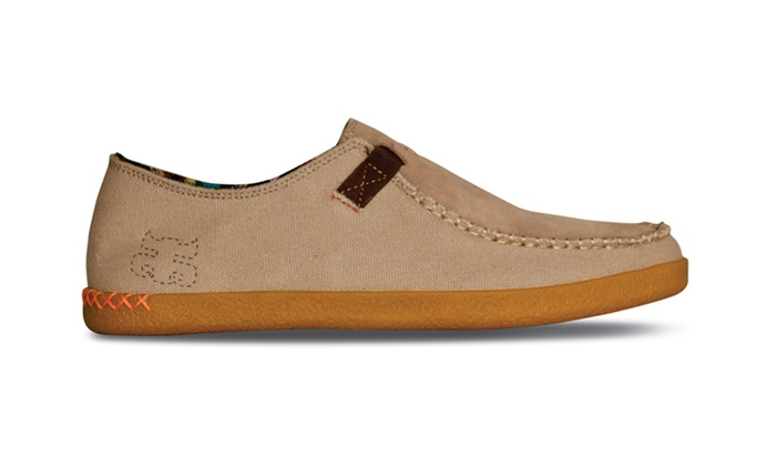 Mens Canvas Slip On Shoes With Crepe Sole
