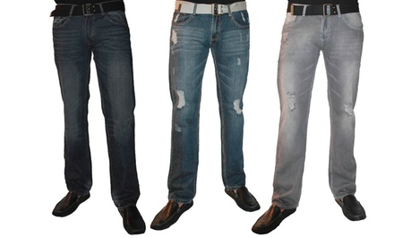 Red Snap Men's Premium Denim Jeans. Multiple Styles Available. Free Returns.