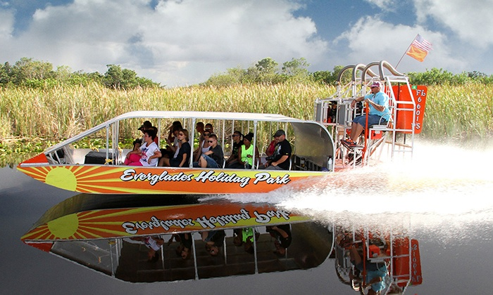 Everglades Holiday Park - Fort Lauderdale: Airboat Tour and Live Alligator Show for One, Two, or Four from Everglades Holiday Park (40% Off)