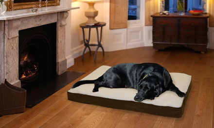 Faux-Sherpa and Suede Orthopedic Pet Loungers from $16.99–$34.99