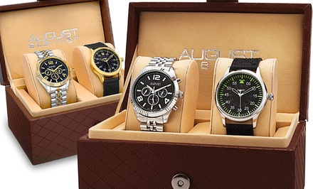 August Steiner Men's 2-Watch Gift Set
