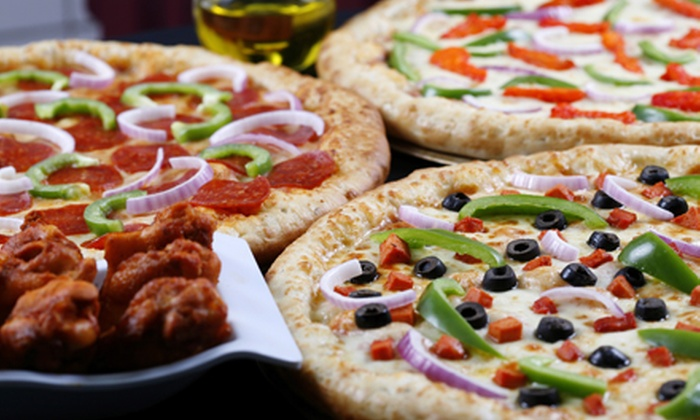 The Infield Pizzeria & Sports Bar - Lakeside: Pizzeria Eats at The Infield Pizzeria & Sports Bar (Half Off). Two Options Available.