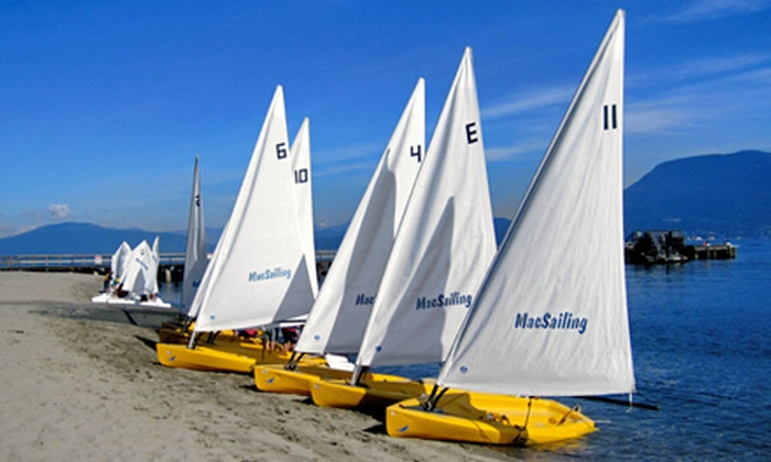 MacSailing - Kitsilano Beach: Three-Hour Semiprivate Sailing Lesson for Two or Three-Hour Corporate Sailing Event from MacSailing (Half Off)