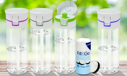 Brita FillandGo flessen met 4, 8 of 12 filters, verkrijgbaar in verschillende kleuren