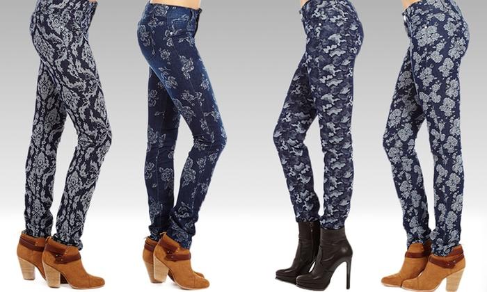 Sky Women's Jacquard Printed Jeans: Sky Women's Jacquard Printed Jeans. Multiple Styles Available. Free Returns.