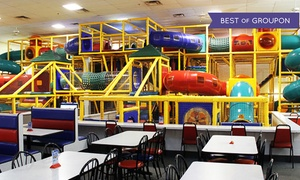 The Play Station: Super Fun Party Package or Five General Admissions at The Play Station (Up to 50% Off)