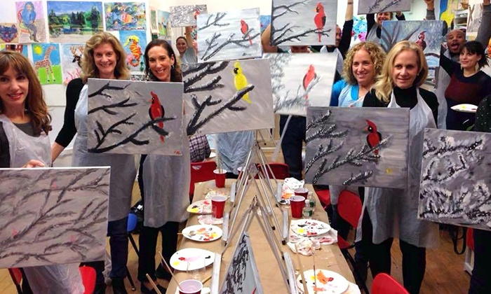 Kids at Art - Upper East Side: Two-Hour Adult Painting Class for One or Two at Kids at Art (Up to 37% Off)