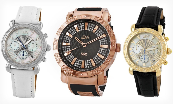 JBW Men's and Women's Diamond Watches: JBW Men's and Women's Diamond-Accent Watches (Up to 90% Off). 14 Styles Available.