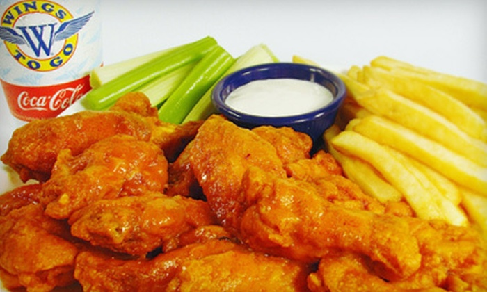 Wings To Go - 1: Wings, Sandwiches, Paninis, and Salads for Two or Four at Wings to Go (Half Off)