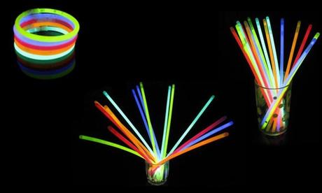 100 braccialetti luminosi fluorescenti Starlight