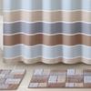 """Stripe- or Chevron-Pattern 72""""x72"""" Shower Curtain & Rug Set (3-Piece)"""