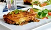 Up to 45% Off Takeout Eggplant Parmesan or Lasagna Dinner