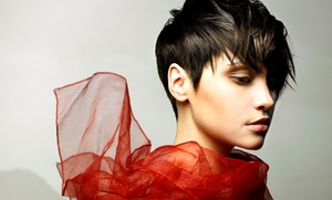 His & Hers Salon: Women's or Men's Haircut Package at His & Hers Salon (Up to 57% Off). Four Options Available.