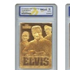 Elvis Presley Sculpted Graded 10 Gold-Foil Collectible Card