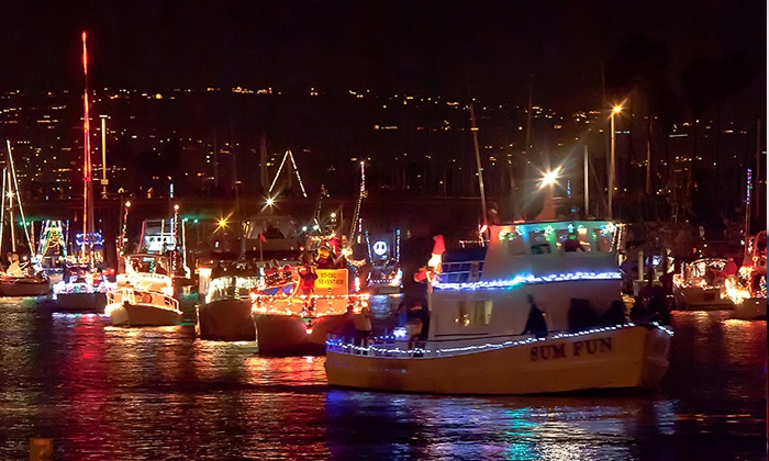 Dana Wharf Whale Watching - Dana Point: Dana Point Harbor Boat Parade of Lights from Dana Wharf Whale Watching on December 5, 6, 12, or 13 (48% Off)