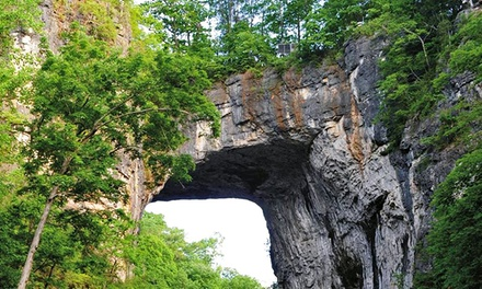 Natural Bridge and Caverns for Two at Natural Bridge of Virginia, LLC (Up to 39% Off). Three Options Available.
