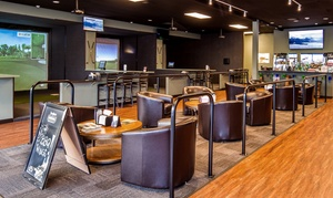 Clubhouse Golf Center: $30 for One Hour of Virtual Golf with Two Beers or Well Drinks at Clubhouse Golf Center ($50 Value)