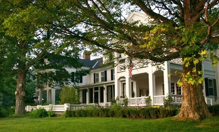 Groupon Deal: Two-Night Stay with Wine and Cheese at The White House Inn in Wilmington, VT