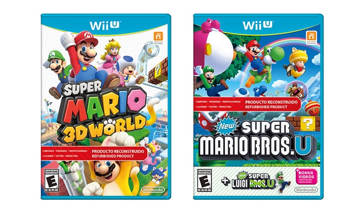 Mario Wii U Games : Mario games for wii u groupon goods