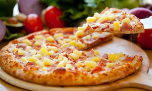 Geraldi's: Large Pizza for Dine-In or Takeout or Family Meal with Two Pizzas and Four Drinks at Geraldi's (Up to 37% Off)