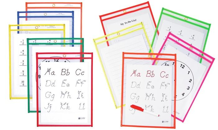 Reusable Dry Erase Pockets (25-Pack): Reusable Dry Erase Pockets (25-Pack)